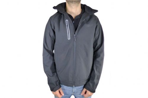 Mens Black Softshell Jacket